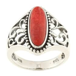 Southwest Moon Sterling Silver Red Coral Filigree Ring|https://ak1.ostkcdn.com/images/products/P13661700.jpg?impolicy=medium