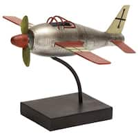 Metal Desktop Airplane Model with Display Stand