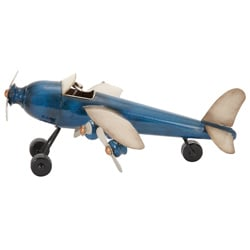 Antique Replica 14-inch Die-cast Metal Plane