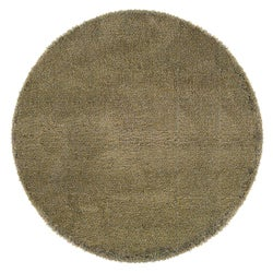 Manhattan Tweed Blue/ Gold Shag Rug (6' Round)