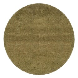 Manhattan Tweed Green/ Gold Shag Rug - 8' - Thumbnail 0