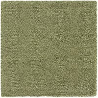 Manhattan Tweed Green/ Ivory Shag Rug (8' Square)