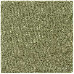 Manhattan Tweed Green/ Ivory Shag Rug (8' Square)