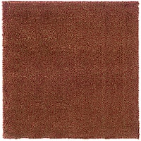 Manhattan Tweed Red/ Gold Shag Rug (8' Square) - 8'
