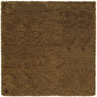 Manhattan Tweed Brown/ Gold Shag Rug - 8' x 8'
