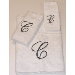 Avanti Silver Scroll 'C' Monogram 3-piece Towel Set