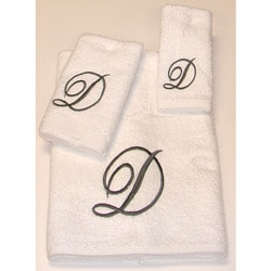Avanti Silver Scroll 'D' Monogram 3-piece Towel Set
