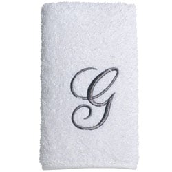 Avanti Silver Scroll 'G' Monogram 3-piece Towel Set