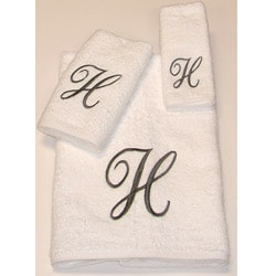 Avanti Silver Scroll 'H' Monogram 3-piece Towel Set