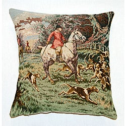 Corona Decor French Jacquard Woven Single Horseman Decorative Pillow