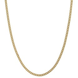 14K Gold over Sterling Silver 18-inch Curb Chain