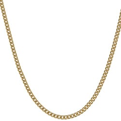 14KGold over Sterling Silver 18-inch Curb Chain Necklace