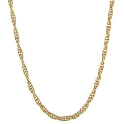 14K Gold over Sterling Silver 18-inch Rope Chain Necklace