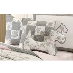 Greenland Home Fashions Quilted Scottie Decorative Pillow - Free Shipping On Orders Over USD45 ...