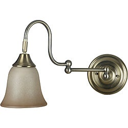 Harlington 1-light Vintage Brass Wall Sconce - Thumbnail 0