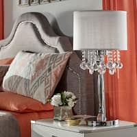 Silver Mist 3-light Crystal Chrome Table Lamp by iNSPIRE Q Bold