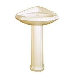 Fine Fixtures Ceramic 22-inch Biscuit Pedestal Sink