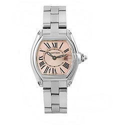 Cartier Women's Roadster Pink Stainless Steel Watch
