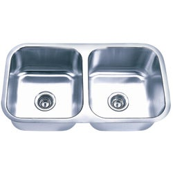 Fine Fixtures Undermount Stainless Steel Equal Double Bowl