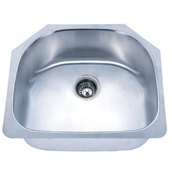 Fine Fixtures D Shaped Undermount Stainless Steel Single Sink