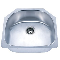Fine Fixtures D-Shaped Undermount Stainless Steel Single Sink