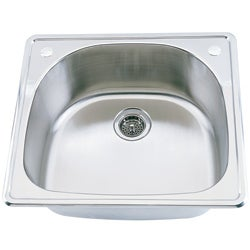 Fine Fixtures D-shaped Top Mount Stainless Steel Single Sink