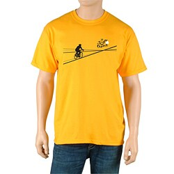 Le Tour de France Men's 'Poster' Yellow Official T-Shirt
