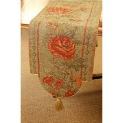 Corona Decor European Woven Floral 70-inch Table Runner