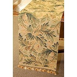 Botanical Print Italian Table Runner