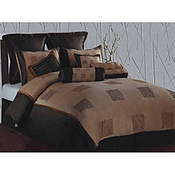 Studio Square Hotel Chocolate/ Gold Queen-size Comforter Set - Thumbnail 0