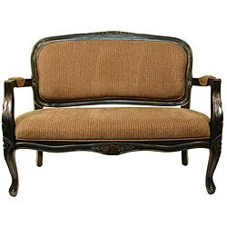 Thumbnail 1, Utopia Tan Stripe Accent Settee.