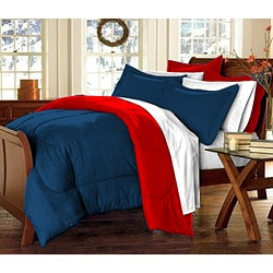 Navy/ Red 10-piece Twin XL-size Dorm Room in a Box