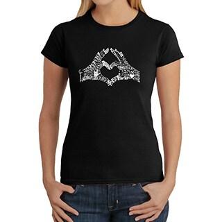 Los Angeles Pop Art Women's Heart Fingers T-Shirt