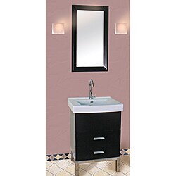 Fine Fixtures Fashion Black and White Wood/ Ceramic Vanity