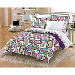 Shop Graphic Paisley 7 Piece Queen Size Microfiber Bed In