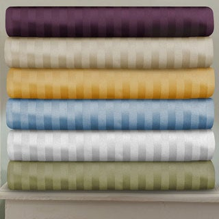 Superior 100-percent Premium Long-staple Combed Cotton 400 Thread Count Deep Pocket Stripe Sheet Set