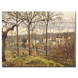 Camille Pissarro 'Einter Landscape at Louveciennes 1873' Gallery-wrapped Canvas Art