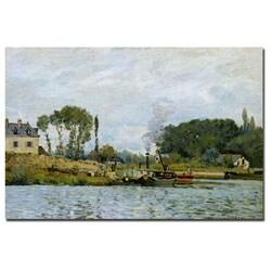 Alfred Sisley 'Boats at Bougival 1873' Canvas Art