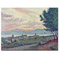 Paul Signac 'St.Tropez Pinewood 1896' Canvas Art