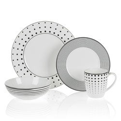 Mikasa Cheers 4-Piece Place Setting  sc 1 st  Overstock.com & Stripe Dinnerware For Less | Overstock.com