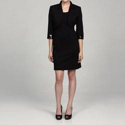 Jessica Howard Petite 2-piece Bead Cuff Bolero Jacket Dress FINAL SALE