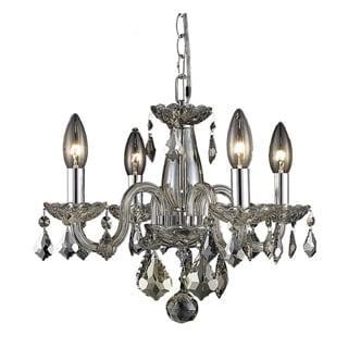 Somette Crystal 62258 4-light Golden Teak Chandelier