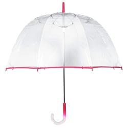 Tina T Clear/Pink 48-inch Arc Bubble Umbrella
