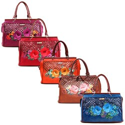 Nicole Lee Adrian Floral Print Laser Cut Tote Bag (4 options available)