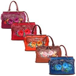Nicole Lee Adrian Floral Print Laser Cut Tote Bag