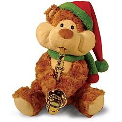 """12"""" Christmas Cheeks Animated Plush Teddy Bear Stuffed Animal - Brown - Thumbnail 0"""