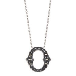 MARC Sterling Silver Marcasite Initial 'O' Necklace