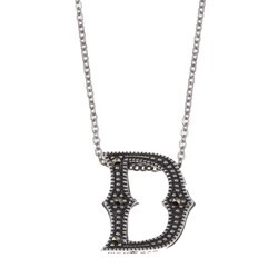MARC Sterling Silver Marcasite Initial 'D' Necklace