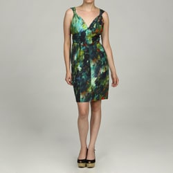 Marc New York Women's Gathered Shoulder Dress
