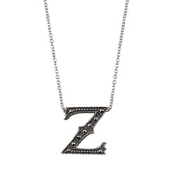 MARC Sterling Silver Marcasite Initial 'Z' Necklace